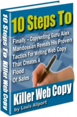 Product picture 10 Steps To Killer Web Copy With Resell Rights