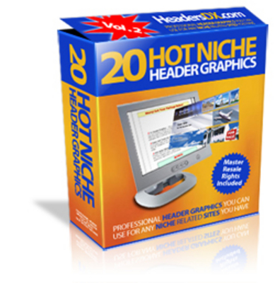 Product picture 20 Hot Niche Header Graphics with MRR