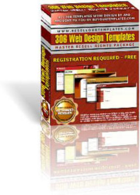 Product picture 306 Web Design Templates with MRR