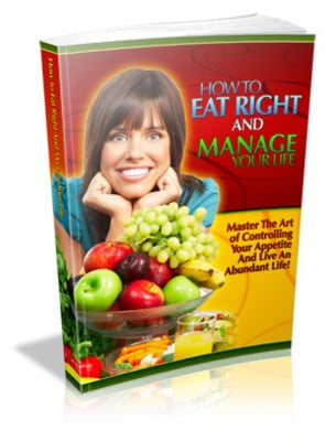 Product picture How To Eat Right and Manage Your Life with MRR